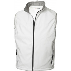 Softshell heren bodywarmer steenwit