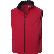 Softshell heren bodywarmer intense red