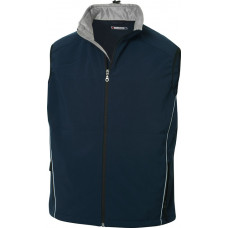 Softshell heren bodywarmer dark navy
