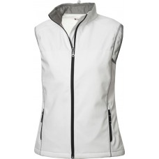 Softshell dames bodywarmer steenwit