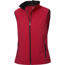 Softshell dames bodywarmer intense red