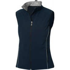 Softshell dames bodywarmer dark navy