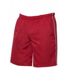 Hollis sport shorts rood/wit