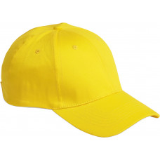 Brandon 6-panel cap uni velcro sluiting lemon