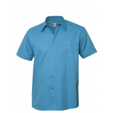 Munford twill shirt S/S turquoise