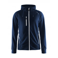 Fleece Hood men dark navy