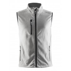 Fleece Vest men grey melange