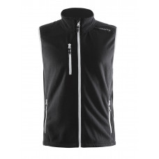 Fleece Vest men black/white