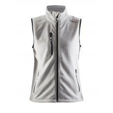 Fleece Vest women grey melange