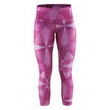 Pure Print Tights wmn p geo rose