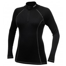 Active Full Zip Turtleneck Women black