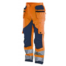 Trouser HV Kl.2 Orange/Navy