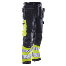 Trousers High Visibility navy/yellow