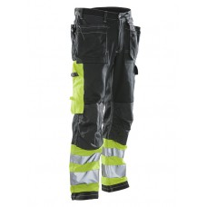 Trousers High Visibility black/yellow