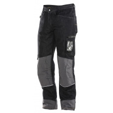 DENIM TROUSER Kneepath-holder Black