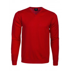 Everett V-Neck Bright Red