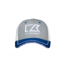 Flexi Pinstripe Cap light grey/royal