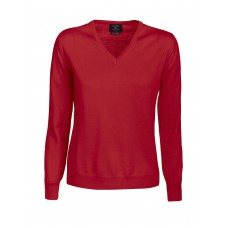 Everett V-Neck Ladies Red