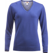 Everett V-Neck Wmn cobolt
