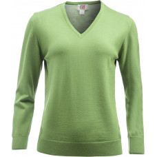 Everett V-Neck Wmn green melange