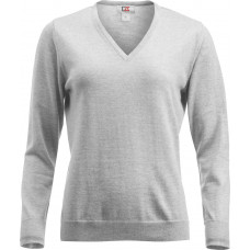 Everett V-Neck Wmn grey melange
