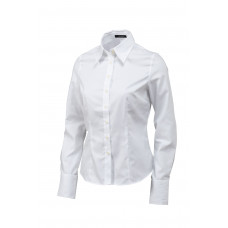 Dames blouse basic Oxford wit