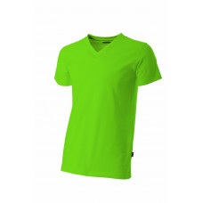 T-shirt V-hals fitted TFV160 Lime