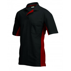 Poloshirt Bi-Color TP2000 blackred