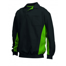 Polosweater Bi-Color TS2000 blacklime