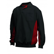 Polosweater Bi-Color TS2000 blackred