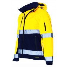 Soft Shell jack EN471 Bi-color TSE3001 Yellownavy
