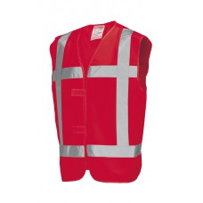 Vest Reflectie V-REF Red